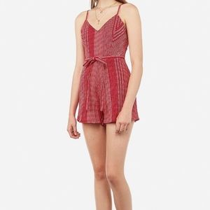 Stitched V-neck romper from Express